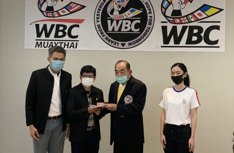 """WBC""  ใจบุญมอบเงินนักชก ""ยอดวิชา"" เยียวยานักชกโดนพิษโควิด-19..โดย..""บิ๊กโก"" พล.ต.อ.โกวิท ภักดีภูมิ ประธานสภามวยแห่งเอเชีย (WBC Asia) และ รองประธานใหญ่ สภามวยโลก (WBC)"